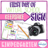 """First Day of School Sign, """"First Day of Virtual School,"""" K"""