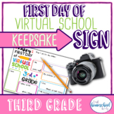 """First Day of School Sign, """"First Day of Virtual School,"""" T"""