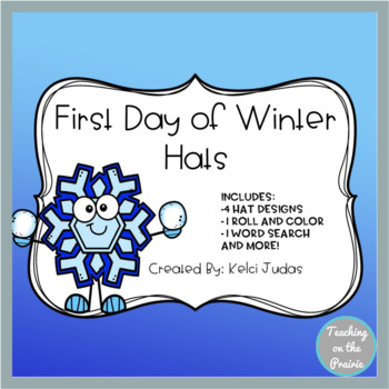 First Day of Winter Hat Activity Pack