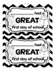 FREE First Day (or Week) of School Note