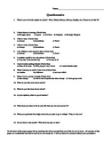 First Day or week of school student questionnaire (all dis