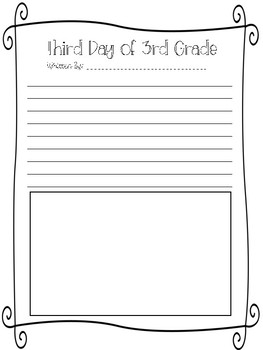 First Day(s) of School Writing Pages