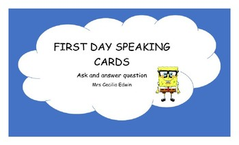 First Day speaking cards