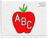Apple, Apple for the Teacher, 1st Day, 100th Day, Coordinate Graphing & Drawing