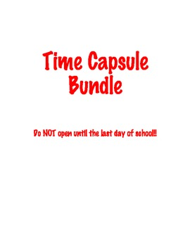 First Day/Last Day Time Capsule - Get to Know You Activity