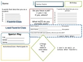 First Days: Getting to Know You - Student Activity