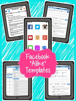 First Days: Social Media Get to Know You Activity Printable
