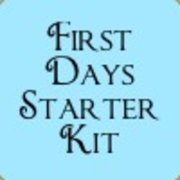 First Days Starter Kit