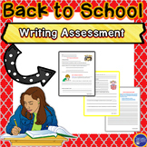 Back to School Writing Assessment