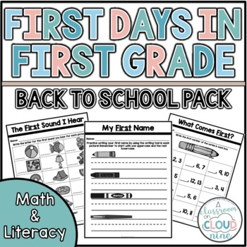 First Days in First Grade {Activities for the First Week of School}