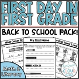 First Days in First Grade   Back to School   First Week of School Activities