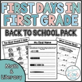 First Days in First Grade | Back to School | First Week of