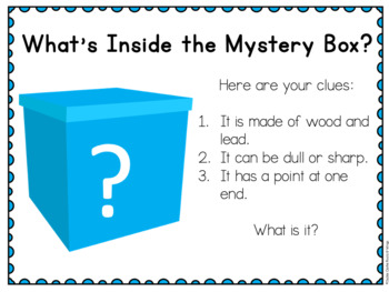 First Days in K - Back to School Deck -Introducing Materials