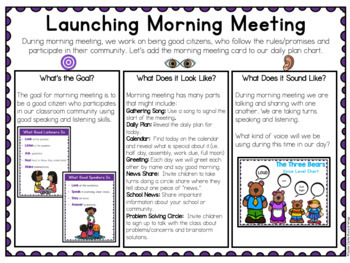 First Days in Kindergarten - Back to School Deck - Daily Plan/Learning Blocks