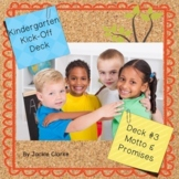 First Days in Kindergarten - Back to School Deck - Motto a