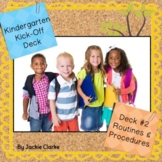 First Days in Kindergarten - Back to School Deck - Routine