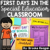 First Days in the Special Education Classroom