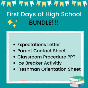 First Days of High School: BUNDLE!!!!