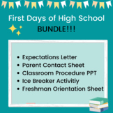 First Days of High School: BUNDLE!