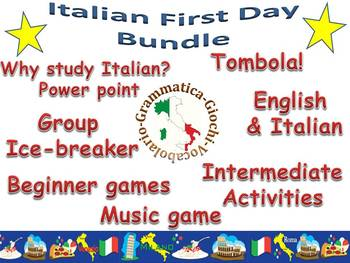 First Day of Italian class bundle