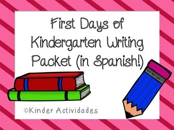 Kindergarten Beginning Writing Packet (Spanish)
