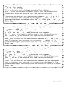 First Days of Kindergarten Homework and Letter to Parent – Kindergarten EDITABLE