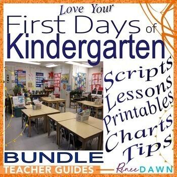 First Days Of Kindergarten Kindergarten Teacher S Bundle By Renee Dawn