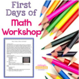 First Days of Math Workshop - In Class and Distance Learning