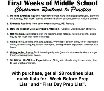 Back to School Rules & Routines Gr.4-8