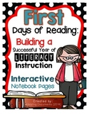 First Days of Reading - Interactive Notebook Pages
