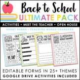 Back to School Activities - Meet the Teacher - Digital Activities - Open House