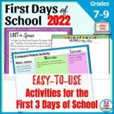 First Days of School Activities for Middle School