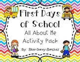 First Days of School: All About Me Activity Pack