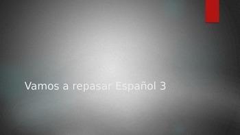 First Days of School Bingo Humano de Repaso  Spanish 3 pow