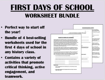 First Days of School Bundle - US/APUSH/Global/World History