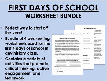 First Days of School Bundle - US/APUSH/Global/World History