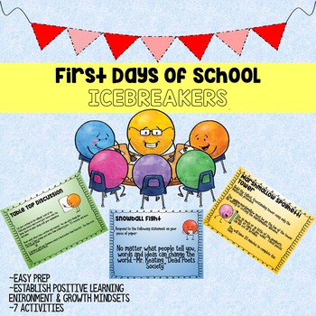 First Days of School Icebreaker Activities