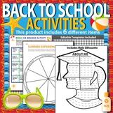 Back to School Activities - First days of School K-12 (editable)