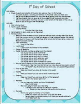 First Days of School Lesson Plans Editable - First Three Days of School
