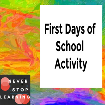 First Days of School Name/Picture Activity