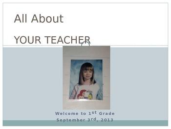 First Days of School Powerpoint