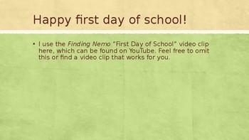 First Days of School Powerpoint Bundle