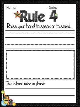 First Days of School Rule Book