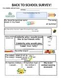 First Days of School Student Survey: Editable!