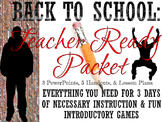 First Days of School Teacher Packet Usable with Google Slides: High School Style