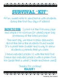 """First Days of School Welcome (Survival """"Kit"""")"""