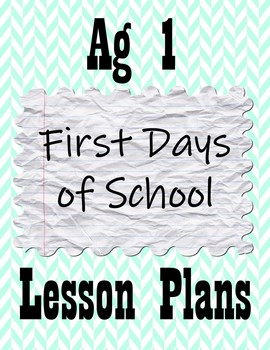 First Days of School in Ag Class
