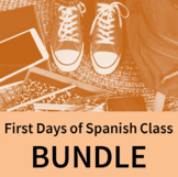 First Days of Spanish Class BUNDLE