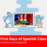 First Days of Spanish Class - Distance Learning Bundle