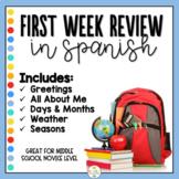 First Week of Spanish - Review - Repaso Primera Semana